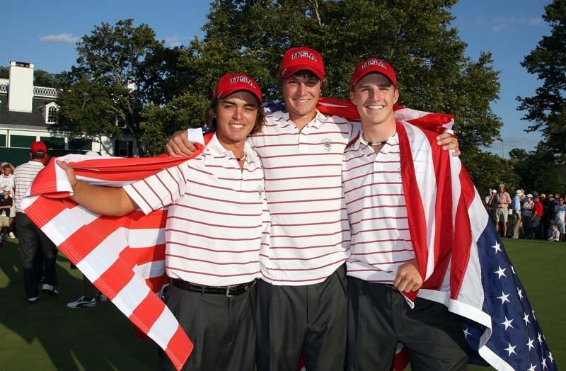 Rickie Fowler, Peter Uihlein and Morgan Hoffman, 2009 Walker Cup