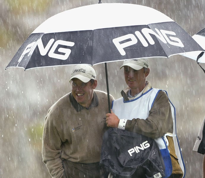 Lee Westwood at the 2004 Smurfit European Open
