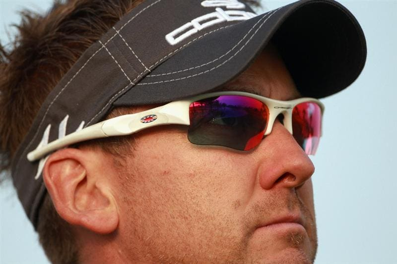 BAHRAIN, BAHRAIN - JANUARY 27:  Ian Poulter of England waits to play during the first round of the Volvo Golf Champions at The Royal Golf Club on January 27, 2011 in Bahrain, Bahrain.  (Photo by Andrew Redington/Getty Images)