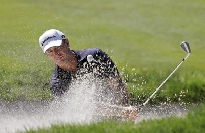 Peter Lonard during the final round of the Barclays Classic held at Westchester Country Club in Rye, New York on June 11, 2006.