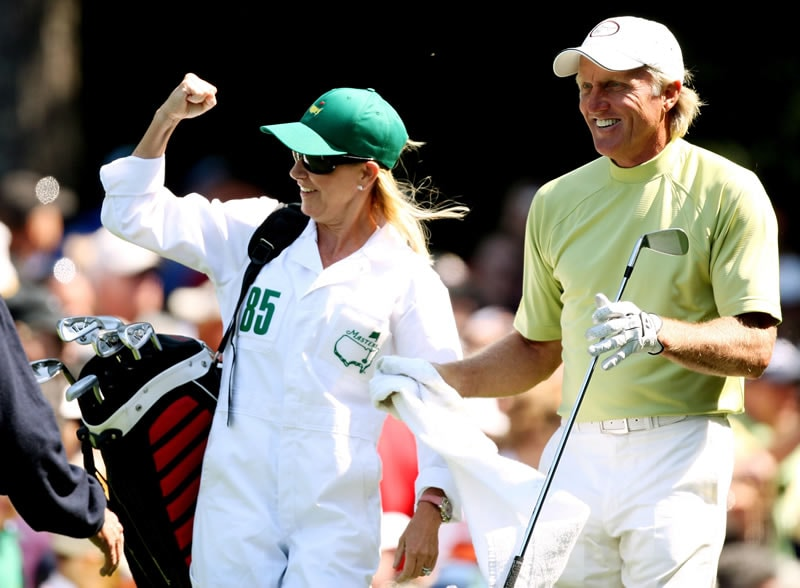 Greg Norman and Chris Evert