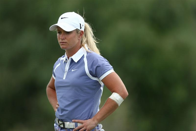 MORELIA, MEXICO- APRIL 24:  Suzann Pettersen of Norway looks on the 5th hole during the second round of the 2009 Corona Championship, part of the LPGA Tour, on April 24, 2009 at the Tres Marias Golf Club in Morelia, Michoacan, Mexico. Pettersen is 13-under par after two rounds. (Photo by Donald Miralle/Getty Images)