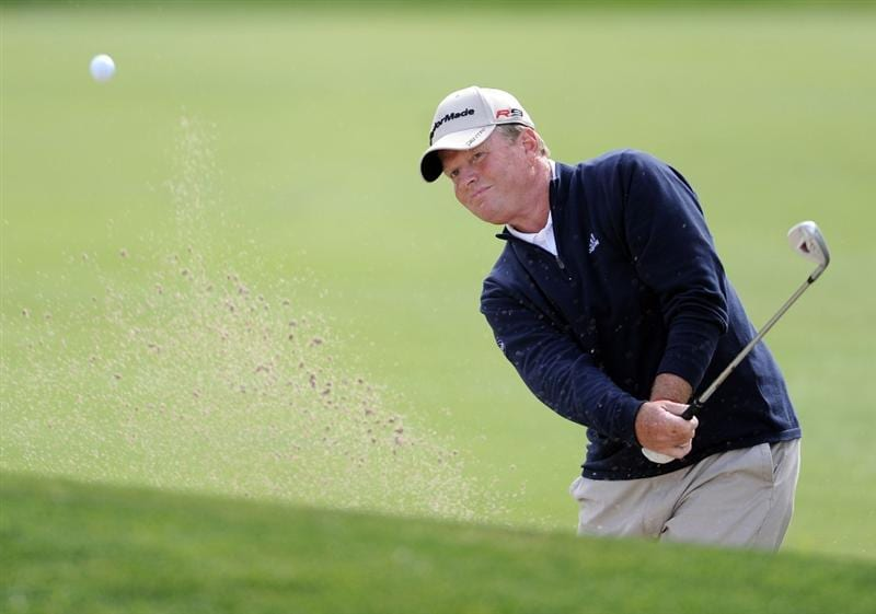 NEWPORT BEACH, CA - MARCH 06:  Lonnie Nielsen hits out of the bunker on the 11th hole during the second round of the Toshiba Classic at the Newport Beach Country Club on March 6, 2010 in Newport Beach, California.  (Photo by Harry How/Getty Images)