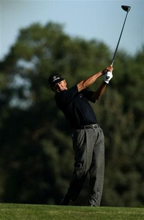 BOISE , ID - SEPTEMBER 11:  Esteban Toledo tees off  on the 7th hole during the first round of the Albertson's Boise Open at the Hillcrest Country Club on September 11, 2008 in Boise, Idaho.  (Photo by Jonathan Ferrey/Getty Images)