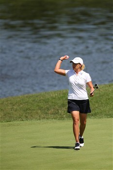ROGERS, AR - JULY 6:  Cristie Kerr walks away from the 2nd hole during the final round of the P&G Beauty NW Arkansas Championship presented by John Q. Hammons on July 6, 2008 at Pinnacle Country Club in Rogers, Arkansas. (Photo by G. Newman Lowrance/Getty Images)