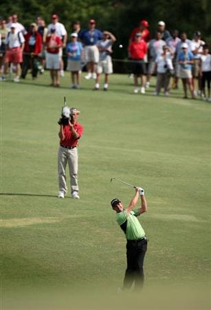 TUCKER'S TOWN, BERMUDA - OCTOBER 14:  Padraig Harrington of Ireland on the first hole during the first round of the PGA Grand Slam of Golf at the Mid Ocean Club on October 14, 2008 in Tucker's Town, Bermuda.  (Photo by Ross Kinnaird/Getty Images)