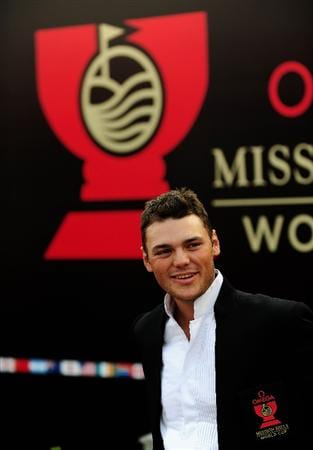 SHENZHEN, GUANGDONG - NOVEMBER 25:  Martin Kaymer of Germany during the opening ceremony at the Omega Mission Hills World Cup on the Olazabal course on November 25, 2009 in Shenzhen, China.  (Photo by Stuart Franklin/Getty Images)