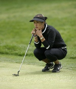 Grace Park surveys the tenth green at the Sybase Classic Sunday at the Wykagyl Country Club in New Rochelle, NY.Photo by Patrick Tuohy/WireImage.com