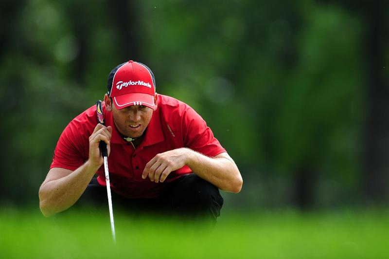 CHASKA, MN - AUGUST 13:  Sergio Garcia of Spain looks over the third green during the first round of the 91st PGA Championship at Hazeltine National Golf Club on August 13, 2009 in Chaska, Minnesota.  (Photo by Stuart Franklin/Getty Images)
