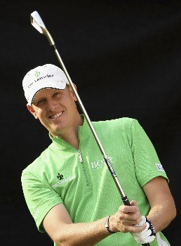 KUALA LUMPUR, MALAYSIA - MARCH 05:  Maarten Lafeber of Holland poses after a practice prior to the Maybank Malaysian Open held at the Kota Permai Golf & Country Club on March 5, 2008 in Kuala Lumpur, Malaysia  (Photo by Ross Kinnaird/Getty Images)