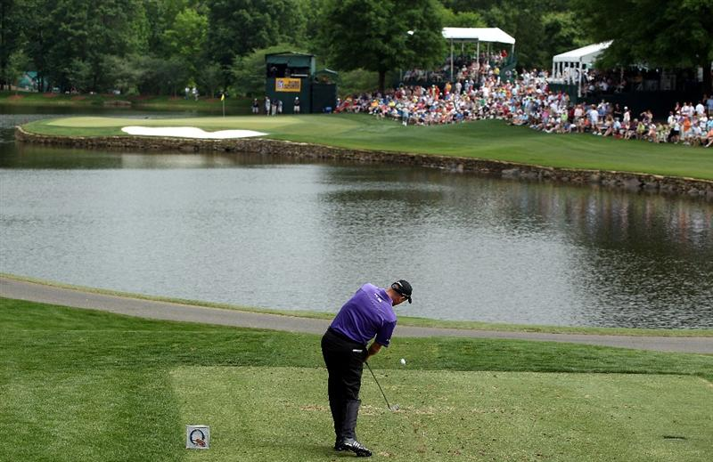 CHARLOTTE, NC - MAY 01:  Jim Furyk tees off at the 17th hole during the third round of the 2010 Quail Hollow Championship at the Quail Hollow Club on May 1, 2010 in Charlotte, North Carolina.  (Photo by Scott Halleran/Getty Images)