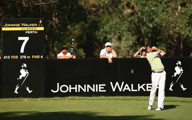 PERTH, AUSTRALIA - FEBRUARY 20:  Robert-Jan Derksen of The Netherlands in action during round two of the 2009 Johnnie Walker Classic at The Vines Resort and Country Club on February 20, 2009 in Perth, Australia.  (Photo by Ian Walton/Getty Images)