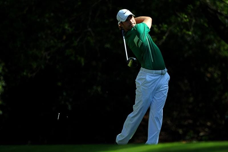 AUGUSTA, GA - APRIL 11:  Trevor Immelman of South Africa hits his tee shot on the second hole during the third round of the 2009 Masters Tournament at Augusta National Golf Club on April 11, 2009 in Augusta, Georgia.  (Photo by Andrew Redington/Getty Images)