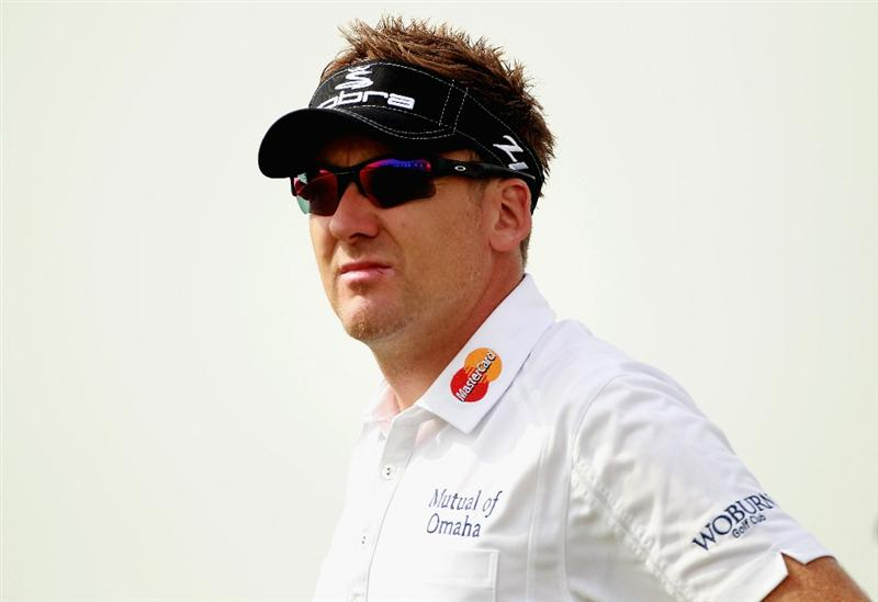 ABU DHABI, UNITED ARAB EMIRATES - JANUARY 19:  Ian Poulter of England in action during the Pro Am prior to the start of The Abu Dhabi HSBC Golf Championship at Abu Dhabi Golf Club on on January 19, 2011 in Abu Dhabi, United Arab Emirates.  (Photo by Andrew Redington/Getty Images)