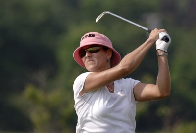 Patricia Meunier-Lebouc during the second round  at Newport Country Club, site of the 2006 U. S. Women's Open in Newport, Rhode Island, July 1.Photo by Al Messerschmidt/WireImage.com