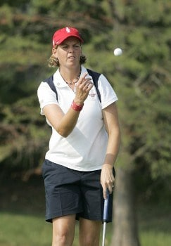 Wendy Ward during the Sunday singles matches at the Solheim Cup at Crooked Stick Golf Club in Carmel, Indiana on September 11, 2005.Photo by Michael Cohen/WireImage.com