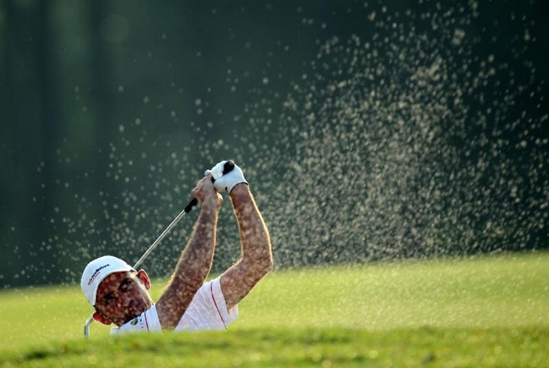 KUALA LUMPUR, MALAYSIA - MARCH 04: Markus Brier of Austria during the first round of the Maybank Malaysia Open at the Kuala Lumpur Golf & Country on March 4, 2010 in Kuala Lumpur, Malaysia.  (Photo by Ross Kinnaird/Getty Images)