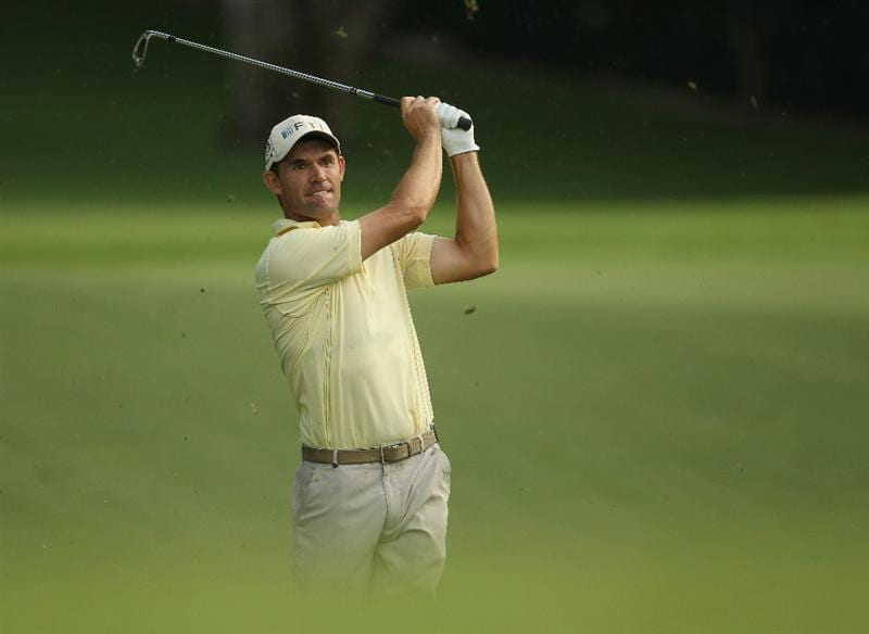 SINGAPORE - NOVEMBER 12:  Padraig Harrington of Ireland in action during the Second Round of the Barclays Singapore Open at Sentosa Golf Club on November 12, 2010 in Singapore, Singapore.  (Photo by Ian Walton/Getty Images)