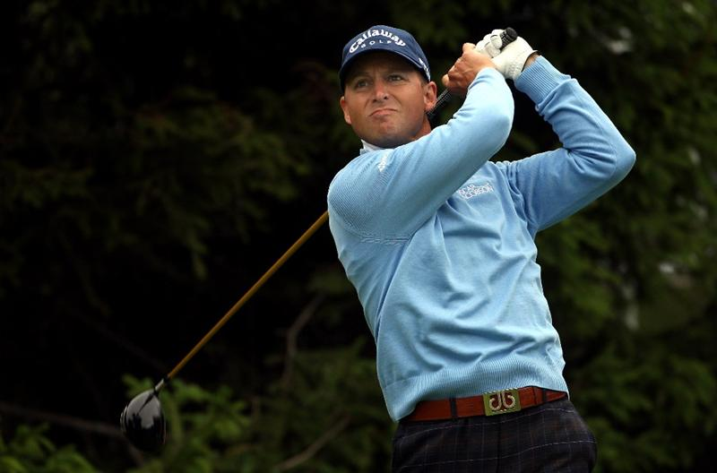 CRANS, SWITZERLAND - SEPTEMBER 04:  Niclas Fasth of Sweden tees off on the 15th hole during the second round of The Omega European Masters at Crans-Sur-Sierre Golf Club on September 4, 2009 in Crans Montana, Switzerland.  (Photo by Andrew Redington/Getty Images)
