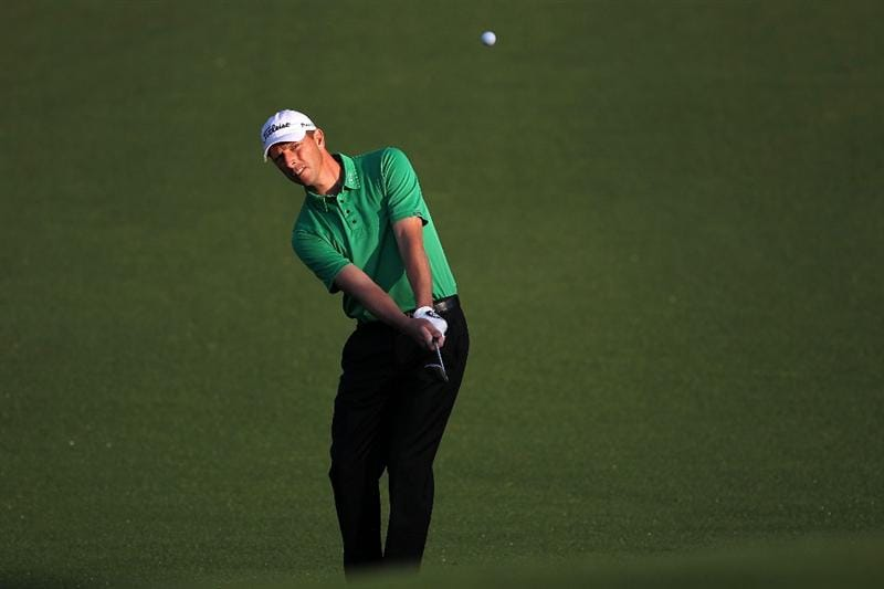 AUGUSTA, GA - APRIL 05:  Soren Hansen of Denmark plays a shot on the second hole during a practice round prior to the 2010 Masters Tournament at Augusta National Golf Club on April 5, 2010 in Augusta, Georgia.  (Photo by Jamie Squire/Getty Images)