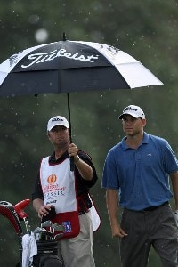 Bill Haas waits to hit his second shot on the 18th hole on the Palm Course during the first round of The Childrens Miracle Network Classic held at The Disney Shades of Green Resort, on November 1, 2007 in Orlando, Florida, PGA TOUR - 2007 Children's Miracle Network Classic presented by Wal-Mart - First RoundPhoto by David Cannon/WireImage.com