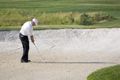 Jason Bohn competes in the first round of the B.C. Open held on the Atunyote course at Turning Stone Resort in Vernon, New York, on July 20, 2006.