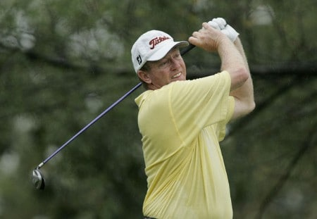 Vance Heafner in action  during the first round of the Greater Hickory Classic at Rock Barn on the Jones Course  in Conover, North Carolina on October 7, 2005.Photo by Michael Cohen/WireImage.com