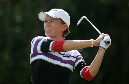 WEST PALM BEACH, FL - NOVEMBER 17:  Catriona Matthew of Scotland hits her tee shot on the seventh hole during the third round of the 2007 ADT Championship at the Trump International Golf Club on November 17, 2007 in West Palm Beach, Florida  (Photo by Scott Halleran/Getty Images)