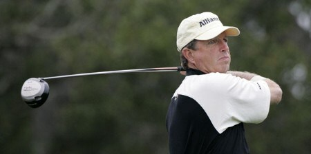 Dana Quigley in action during the first round of the 2005 Wal-Mart First Tee Open at Pebble Beach Golf Links, on September 2,2005. The event is being held at Pebble Beach Golf Links & Del Monte G.C., Pebble Beach, Ca.Photo by Stan Badz/PGA TOUR/WireImage.com