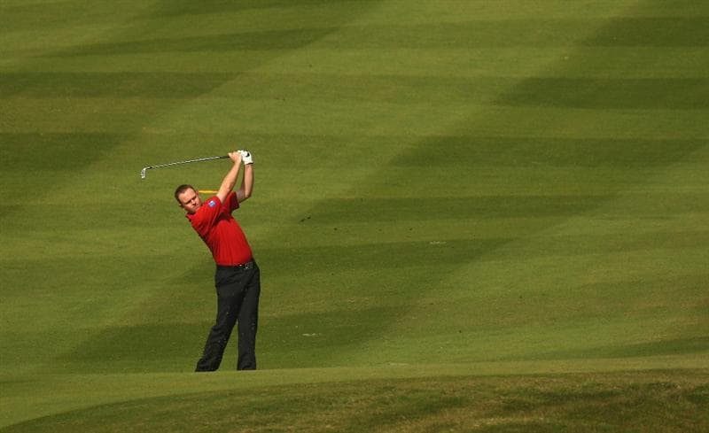 SHENZHEN, CHINA - NOVEMBER 26:  Alastair Forsyth of Scotland in action during the Pro - Am of the Omega Mission Hills World Cup at the Mission Hills Resort on November 26, 2008 in Shenzhen, China.  (Photo by Ian Walton/Getty Images)