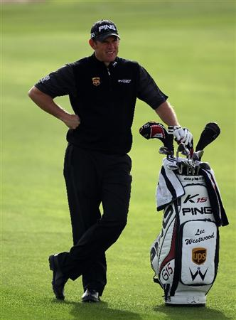 DOHA, QATAR - FEBRUARY 03:  Lee Westwood of England during the first round of the Commercialbank Qatar Masters at the Doha Golf Club on February 3, 2011 in Doha, Qatar.  (Photo by Ross Kinnaird/Getty Images)