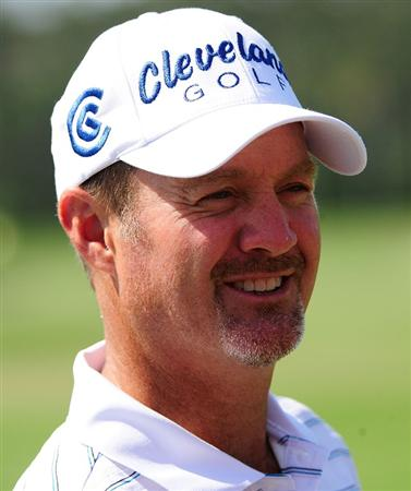 PONTE VEDRA BEACH, FL - MAY 03:  Jerry Kelly smiles during a practice round for THE PLAYERS at TPC Sawgrass on May 3, 2010 in Ponte Vedra Beach, Florida.  (Photo by Sam Greenwood/Getty Images)