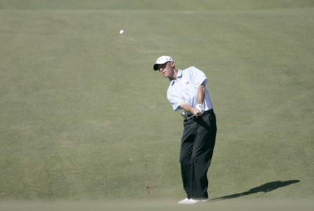 Nathan Green during the first round of the Nationwide Tour Championship held  on the Senator course at Capitol Hill GC in Prattville, Alabama on Thursday, October 27, 2005.Photo by Sam Greenwood/WireImage.com