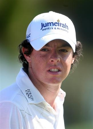 VILAMOURA, PORTUGAL - OCTOBER 17:  Rory McIlroy of Northern waits to play on the 17th hole during the third round of the Portugal Masters at the Oceanico Victoria Golf Course on October 17, 2009 in Vilamoura, Portugal.  (Photo by Andrew Redington/Getty Images)