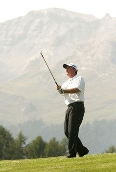 Ian Garbutt during the second round of the 2005 Omega European Masters at the Crans-sur-Sierre Golf Club . September 2, 2005Photo by Pete Fontaine/WireImage.com