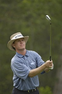 Briny Baird In action during the frist round of the Shell Houston Open at the Redstone Golf Club,Tournament Course, Humble, Texas, on Thursday, April 20, 2006Photo by Marc Feldman/WireImage.com