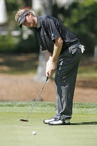 Tim Petrovic on the 15th green during the first round of the 2006 Verizon Herizon Heritage Classic Thursday, April 13, 2006, at Harbour Town Golf Links in Hilton Head Island, South Carolina.Photo by Kevin C.  Cox/WireImage.com