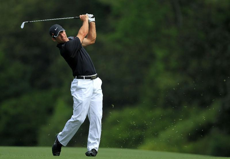 AUGUSTA, GA - APRIL 08:  Paul Casey of England watches a shot on the fifth hole during the second round of the 2011 Masters Tournament at Augusta National Golf Club on April 8, 2011 in Augusta, Georgia.  (Photo by David Cannon/Getty Images)