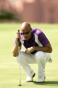 Johan Skold during the first round of the 2005 Abama Open De Canarias at the Abama Golf Resort in Guia De Isora, Spain on October 6, 2005Photo by Pete Fontaine/WireImage.com