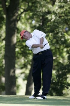 Raymond Floyd in action during the final round of the the U. S. Senior Open, July 31,2005, held at the NCR Country Club, Kettering, Ohio.Photo by Stan Badz/PGA TOUR/WireImage.com