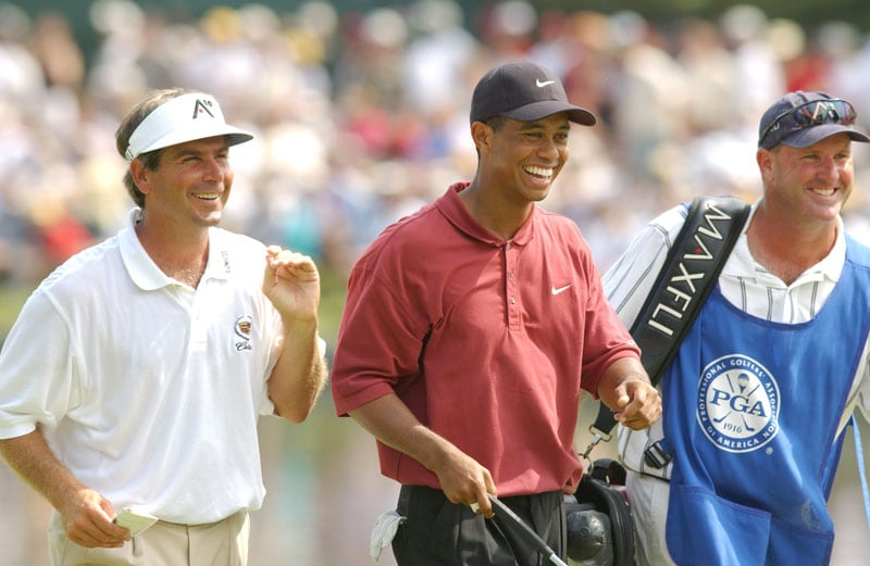 Fred Couples and Tiger Woods