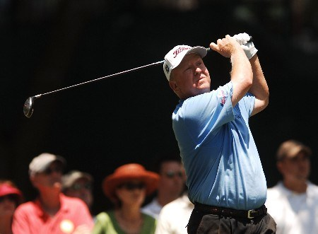 Billy Mayfair hits from fourth tee during the third round of the 2005 Bank of America Colonial at Colonial Country Club in Forth Worth, Texas May 21, 2005.Photo by Steve Grayson/WireImage.com