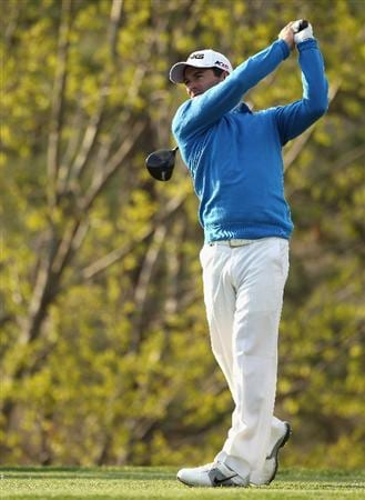 ICHEON, SOUTH KOREA - APRIL 28:  Gareth Maybin of Northern Ireland in action during the first round of the Ballantine's Championship at Blackstone Golf Club on April 28, 2011 in Icheon, South Korea.  (Photo by Andrew Redington/Getty Images)