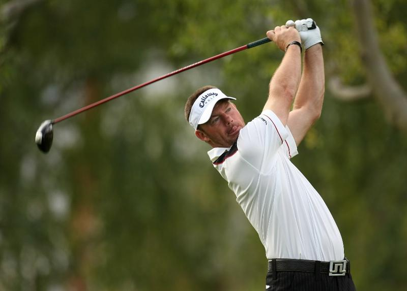 LA QUINTA, CA - JANUARY 21:  Alex Cejka of Germany hits his tee shot on the second hole on the Palmer Private Course at PGA West during the first round of the Bob Hope Chrysler Classic on January 21, 2009 in La Quinta, California.  (Photo by Stephen Dunn/Getty Images)