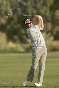 Kenneth Ferrie during the first round of the Dubai Desert Classic at the Emirates Golf Club in Dubai, United Arab Emirates on February 2, 2006.Photo by Pete Fontaine/WireImage.com