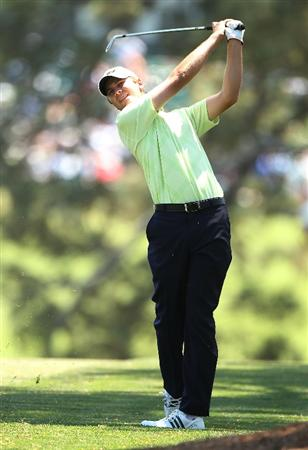 AUGUSTA, GA - APRIL 11:  Sean O'Hair hits a shot on the first hole during the final round of the 2010 Masters Tournament at Augusta National Golf Club on April 11, 2010 in Augusta, Georgia.  (Photo by Andrew Redington/Getty Images)