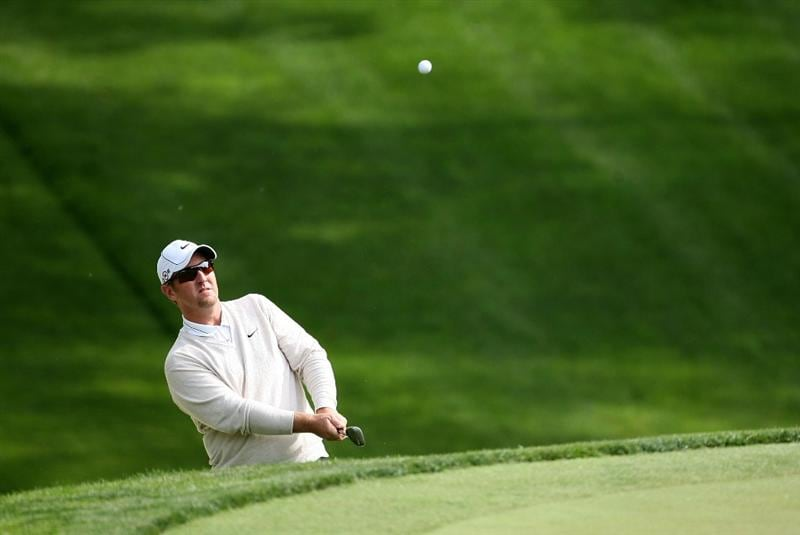 DUBLIN, OH - JUNE 04:  David Duval hits his second shot on the eighth hole during the first round of the Memorial Tournament on June 4, 2009 at the Muirfield Village Golf Club in Dublin, Ohio.  (Photo by Andy Lyons/Getty Images)