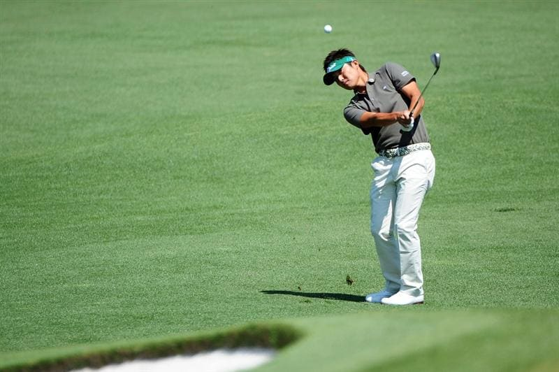 AUGUSTA, GA - APRIL 12:  Ryuji Imada of Japan plays a pitch shot on the second hole during the final round of the 2009 Masters Tournament at Augusta National Golf Club on April 12, 2009 in Augusta, Georgia.  (Photo by Harry How/Getty Images)
