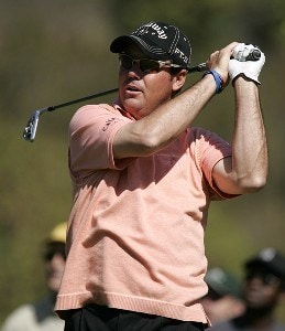 Rich Beem in action during the first round of the PGA TOUR's 2007 Nissan Open at Rivera Country Club in Pacific Palisades, California on February 15, 2007. PGA TOUR - 2007 Nissan Open - First RoundPhoto by Steve Grayson/WireImage.com