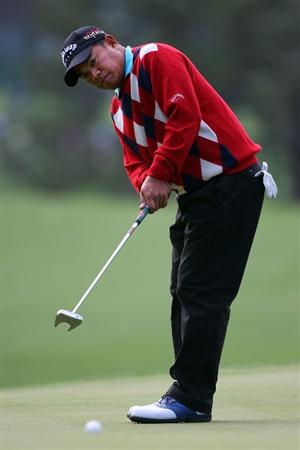 AUGUSTA, GA - APRIL 06:  Prayad Marksaeng putts during a practice round prior to the 2009 Masters Tournament at Augusta National Golf Club on April 6, 2009 in Augusta, Georgia.  (Photo by Andrew Redington/Getty Images)